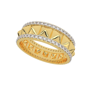 The Golden Dunes Gold Diamond Eternity Ring