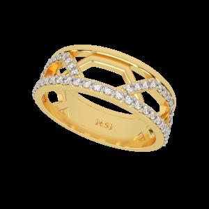 The Fashion Link Gold Diamond Eternity Ring