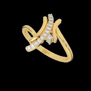 The Golden Ways Gold Diamond Ring
