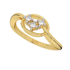 The Shine Suave Gold Diamond Ring