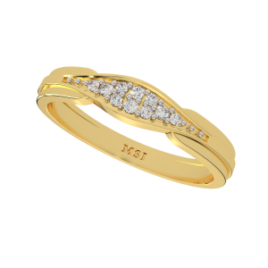 The Dazzle Flash Gold Diamond Ring