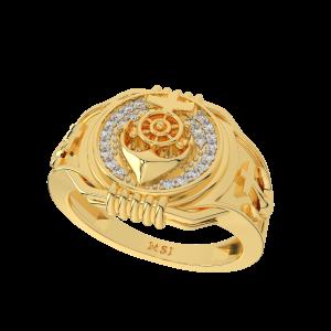 The Royal Anchor Gold Diamond Ring