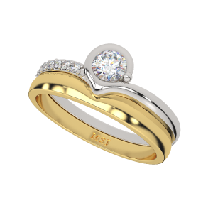 Me & You Couple Gold Diamond Ring For Her