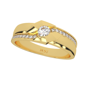 The Glorious Couple Gold Diamond Ring For Her