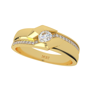 The Glorious Couple Gold Diamond Ring For Him