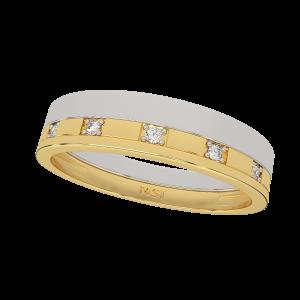 The Elegant Couple Gold Diamond Ring For Him