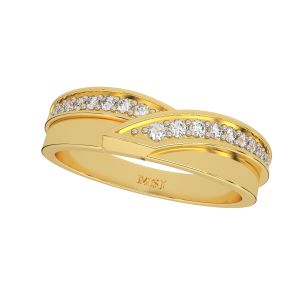 The Golden Roundabout Gold Diamond Ring