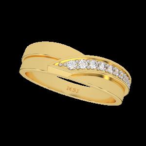 The Golden Tones Gold Diamond Ring