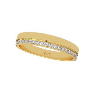 The Life Journey Couple Gold Diamond Ring For Him