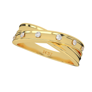 Her King His Queen Couple Gold Diamond Ring For Him