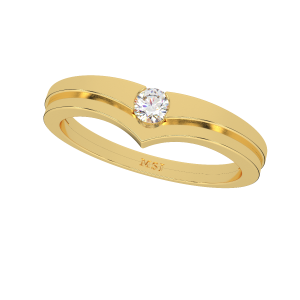 Fall In Love Couple Gold Diamond Ring For Her
