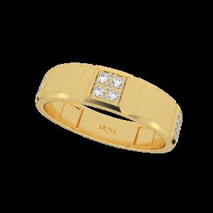 The Minimal Play Diamond Gold Band Ring
