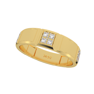 The Snowy Spaces Diamond Gold Ring
