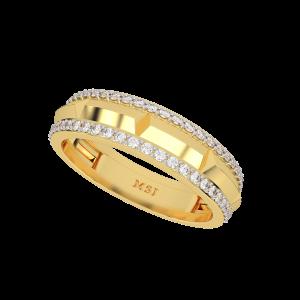 The Wild Glaze Gold Diamond Mens Ring