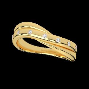 The Melting Gold Diamond Ring