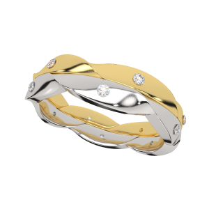 Always In Love Couple Gold Diamond Ring For Her