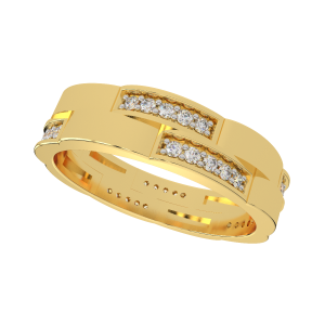 Smart Stackables Gold Diamond Ring