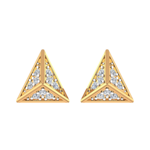 The Triangle Treat Diamond Stud Earrings
