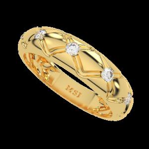 The Golden Zig Zag Diamond Ring