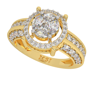 The Solitaire Soiree Gold Diamond Ring