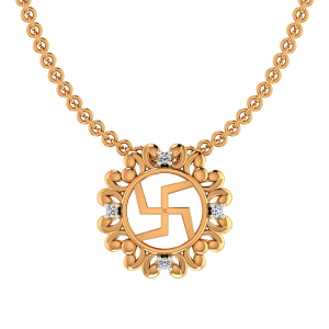 Awesome Swastik Diamond Pendant