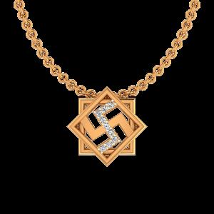Swastik Diamond Pendant