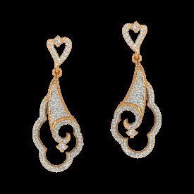 Sweet Danglers Gold Diamond Earrings