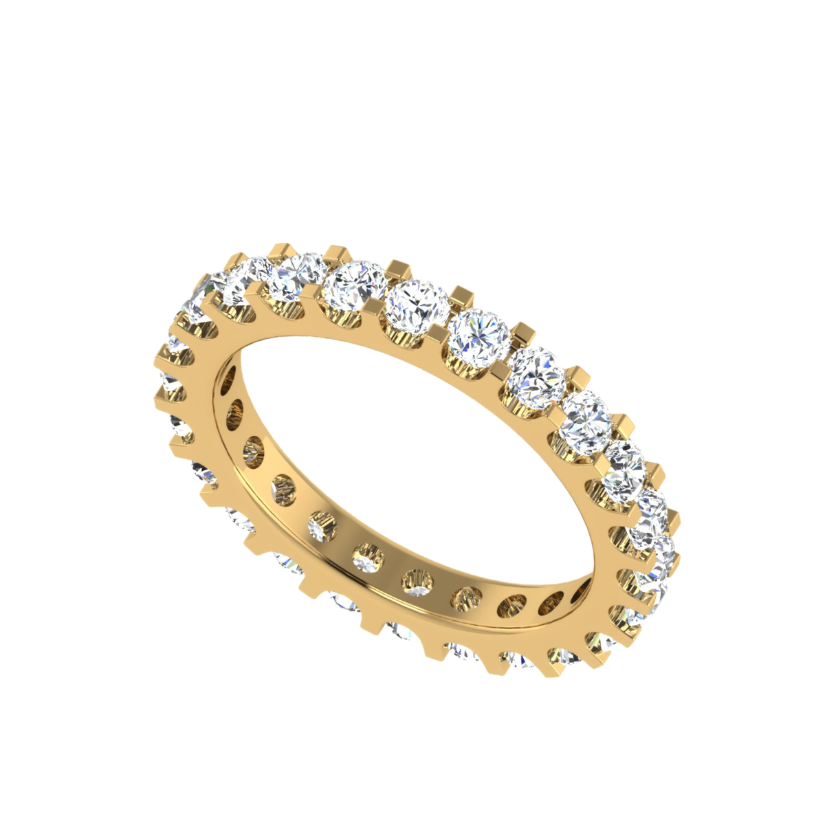 The Lunar Eternity Diamond Band Ring